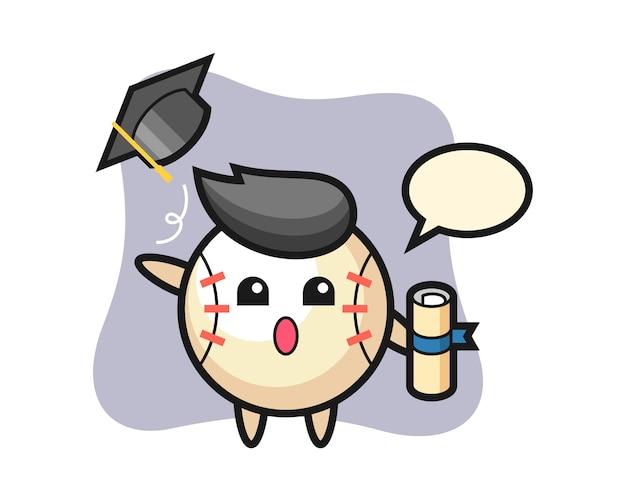 卒業式で帽子を投げる野球漫画