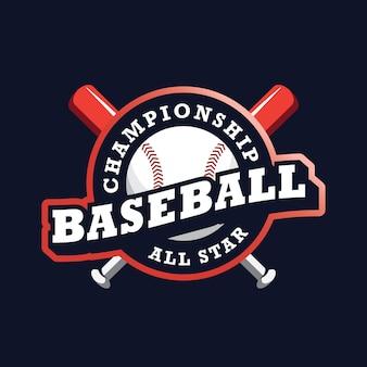 Baseball championship logo design template