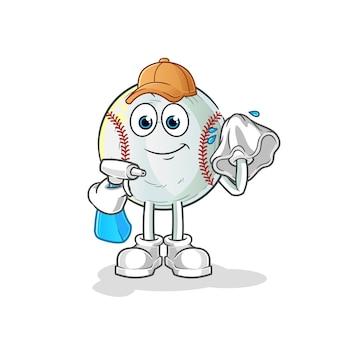 Baseball cleaner illustration