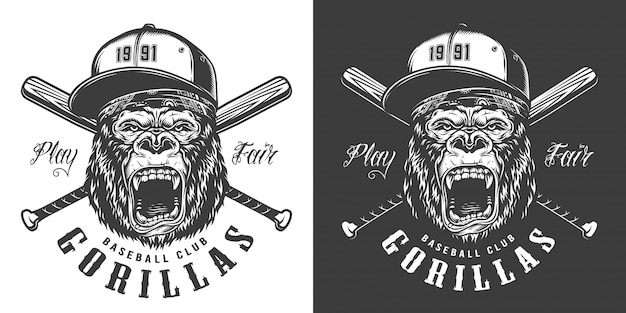 Baseball club mascot label