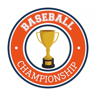 Baseball club sport label trophy