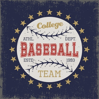 Baseball colored print