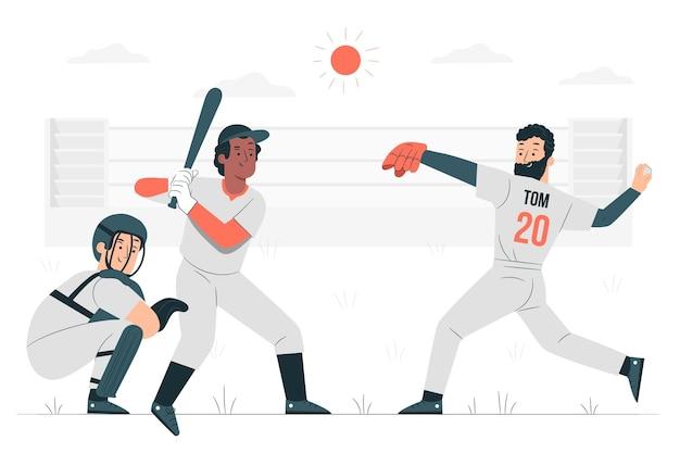 野球のコンセプトイラスト
