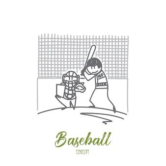 Baseball concept illustration