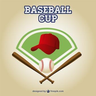 Baseball cup logo