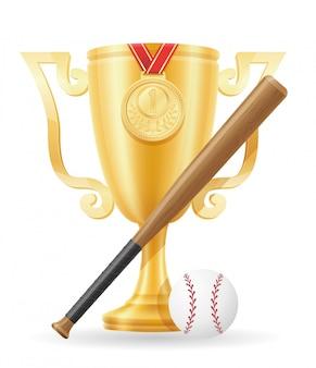 Baseball cup winner gold