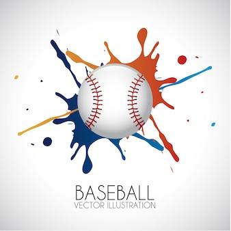 Baseball design over gray background vector illustration