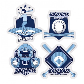 Baseball emblems collection