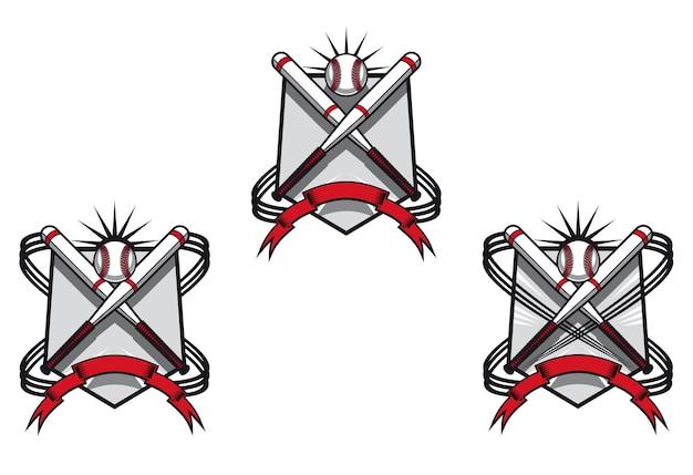 Бейсбольные эмблемы для спортивного дизайна или талисмана