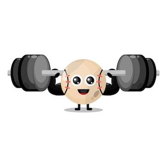 Baseball fitness cute character mascot