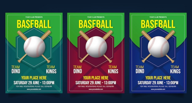 Baseball flyer template vector