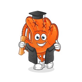 Baseball glove graduation illustration
