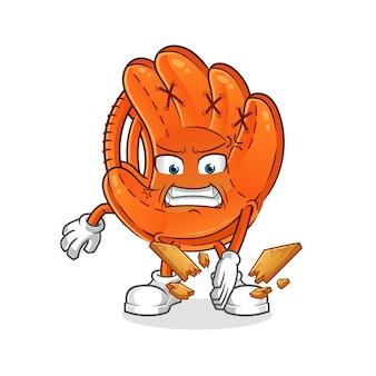 Бейсбольная перчатка талисман каратэ