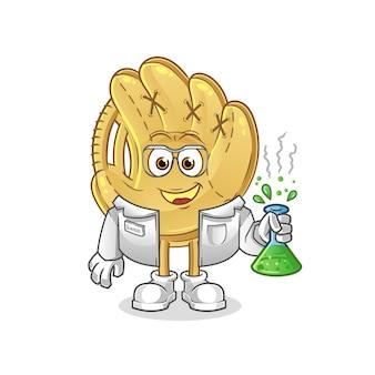 野球グローブの科学者のキャラクター。漫画のマスコット
