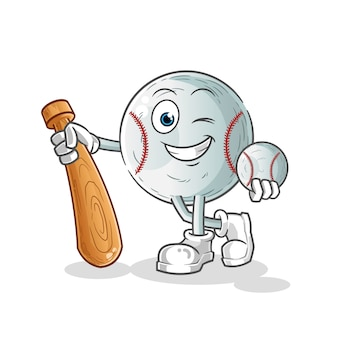 Baseball handsome cartoon character