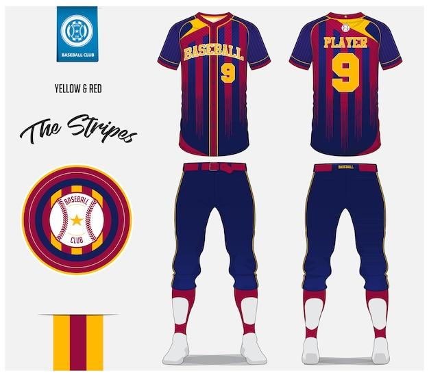 야구 유니폼 템플릿 디자인.