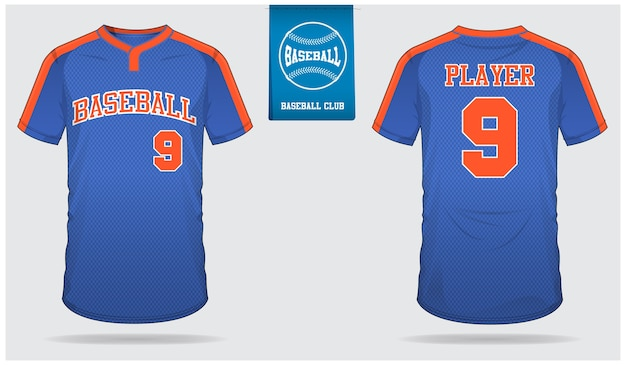 Baseball jersey template design.