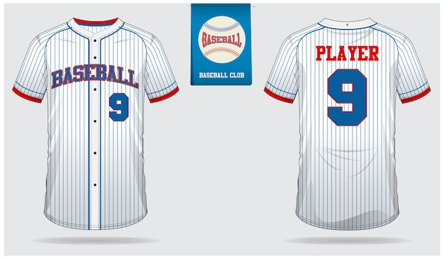 Baseball jersey template design