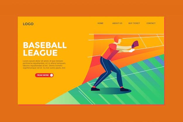 Baseball landing page