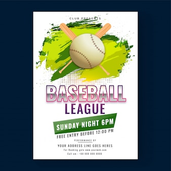 야구 리그 포스터
