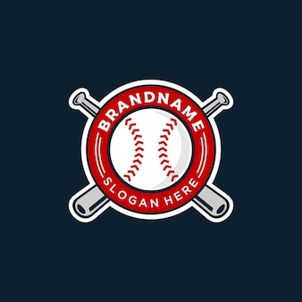 Baseball logo illustration