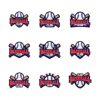 野球ロゴテンプレートのデザイン 無料ベクター