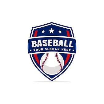 Логотип векторного бейсбола