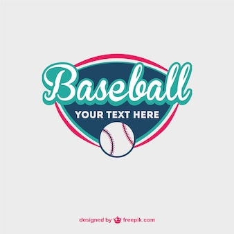 Baseball logo with a ball