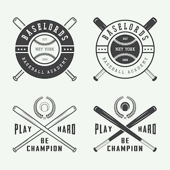 Baseball logos set