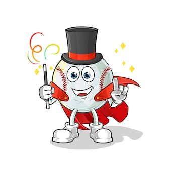 Baseball magician illustration