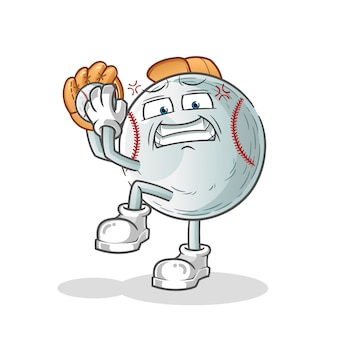 Baseball mascot cartoon character