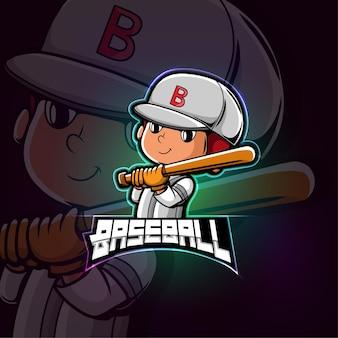 Бейсбол талисман киберспорт дизайн логотипа
