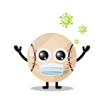 野球マスクウイルスかわいいキャラクターマスコット