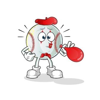 Бейсбольная пантомима дует воздушные шары персонаж иллюстрации