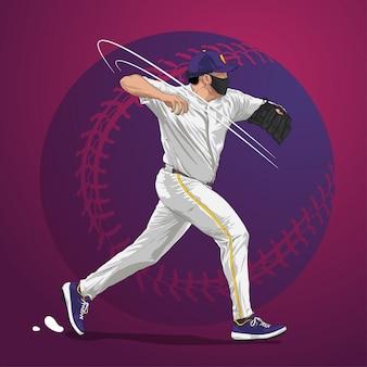 アクションの野球投手