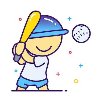 野球選手のイラスト