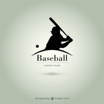 Бейсболист силуэт логотипа