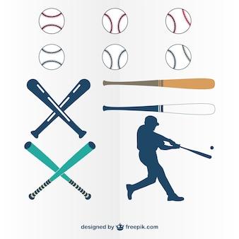 Baseball player and tools