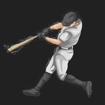 ボールをキャッチしている野球選手