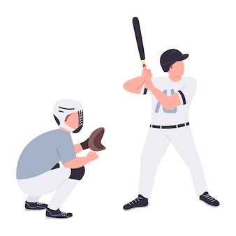野球選手のフラットキャラクター
