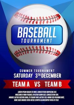 Baseball poster banner template
