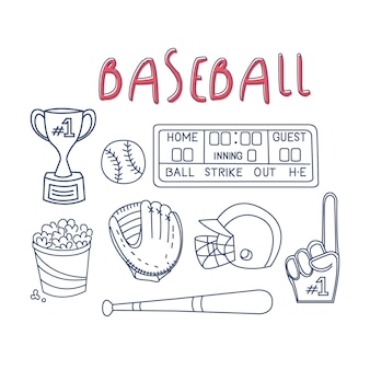 Baseball related object and equipment set