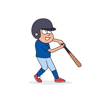 Baseball retro cartoon