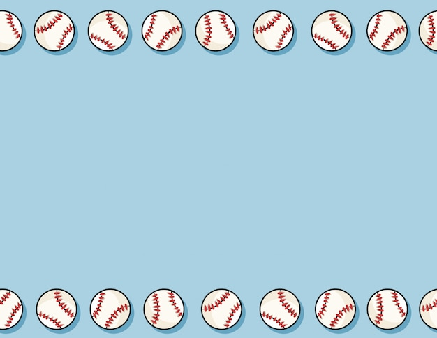 Baseball seamless pattern background