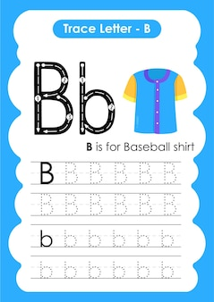 Baseball shirt trace lines writing and drawing practice worksheet for kids