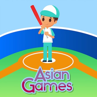 Baseball sport illustration
