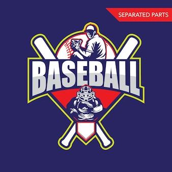 Baseball sport logo