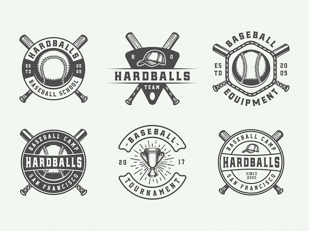 Baseball sport logos