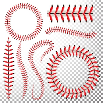 Baseball stitches  set