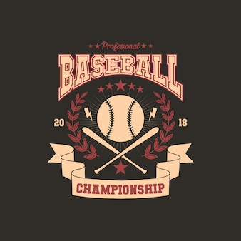 Baseball team badge illustration